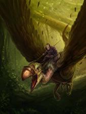 Фотография Волшебные животные Воины Летящий Крылья