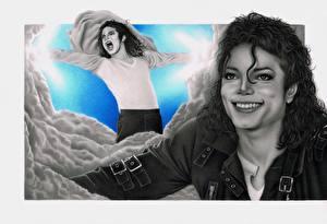 Фото Michael Jackson Рисованные Улыбка Знаменитости