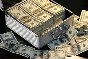 Фотография Деньги Банкноты Доллары 100