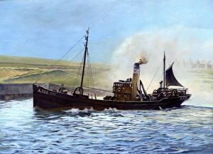 Обои Рисованные Корабли A 700 Esher