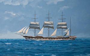 Фотография Рисованные Корабли Парусные