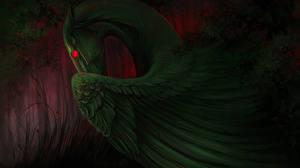 Картинка Пегас Крылья Зеленый