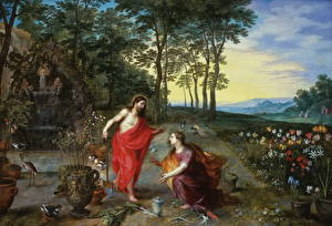 Фотография Картина Jan Brueghel the Younger, Noli me Tangere
