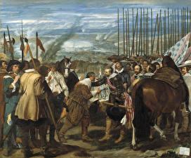 Фотография Картина Мужчины Diego Velázquez, The Surrender of Breda