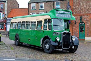 Фото Винтаж Автобус Зеленый 1950 Bristol LL6B ECW