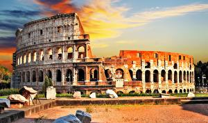 Фотография Рим Италия Колизей