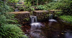Картинки Шотландия Речка Водопады river Ness Природа