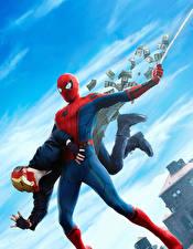 Картинка Человек-паук: Возвращение домой Герои комиксов Человек паук герой