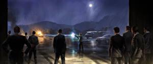 Фотография Человек-паук: Возвращение домой Мужчины В ночи Стреляет