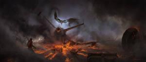 Картинки Человек-паук: Возвращение домой Человек паук герой Огонь Катастрофы Дым Vulture кино