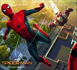 Картинка Человек-паук: Возвращение домой Человек паук герой Герои комиксов Железный человек герой