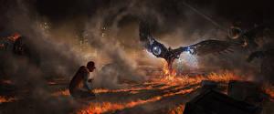 Картинка Человек-паук: Возвращение домой Человек паук герой Супергерои Огонь Двое Vulture кино
