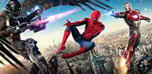 Обои Человек-паук: Возвращение домой Человек паук герой Герои комиксов Железный человек Стрельба Vulture Кино