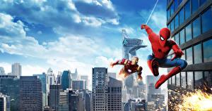 Картинка Человек-паук: Возвращение домой Человек паук герой Супергерои Железный человек