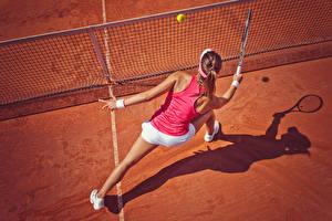 Фотография Теннис Униформе Мячик Сетка Спорт Девушки
