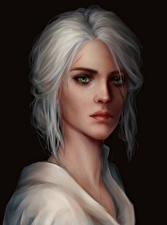 Фото The Witcher 3: Wild Hunt Блондинка Взгляд Cirilla Девушки
