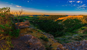 Фотография Штаты Пейзаж Парки Леса Утро Холмы Little Missouri National Grasslands