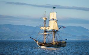 Картинка США Корабли Парусные Море Columbia River Oregon