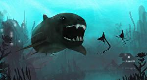 Фото Подводный мир Рыбы Фантастика