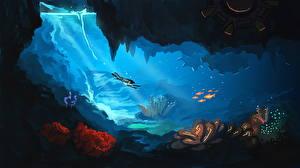 Фото Подводный мир Рисованные Caverns world of Mekazoo