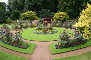 Картинка Великобритания Сады Газон Wentworth Castle Gardens Природа