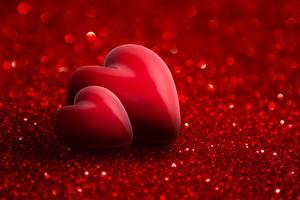 Обои День всех влюблённых Сердце Вдвоем Красный