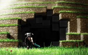 Картинка Воители Пещера Мечи Minecraft, Alexelcapo