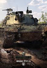 Обои WOT Танки Американская M48A1 Patton, for Smartphones