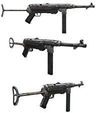 Фотография Автоматы Немецкий Белый фон MP40
