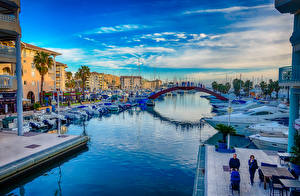 Обои Мосты Франция Водный канал Fréjus, Provence-Alpes-Côte d'Azur