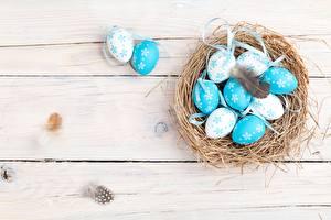 Фото Пасха Яйца Гнездо Доски