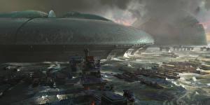 Фотографии Фантастический мир Корабли компьютерная игра