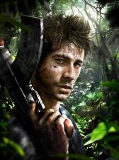 Фотографии Far Cry 3 Автоматы Мужчины Голова Смотрит Игры