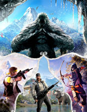 Фотографии Far Cry 4 Мужчины Воины Монстры Игры