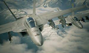 Фотографии Самолеты Истребители Ace Combat 7: Skies Unknown Игры
