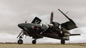 Картинка Самолеты Истребители Черный Американские Grumman F7F Tigercat Авиация