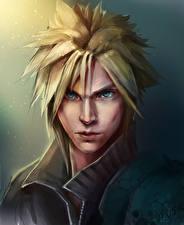 Обои Final Fantasy VII Голова Взгляд Cloud Игры картинки