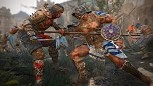 Картинки For Honor Сражения Воины Копья Самурай gladiator Игры