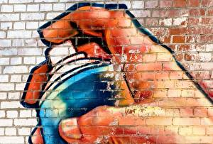 Картинки Граффити Стены Из кирпича