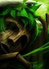 Картинки Голова Деревянный Фэнтези
