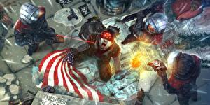 Фотография Homefront Мужчины Крик Флаг Сверху The Revolution Игры