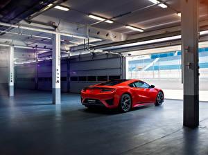 Картинка Honda Красный Сзади Acura, NSX Автомобили