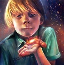Фото Иллюстрации к книгам Магия Мальчики Руки Krapivin, Dovecote on the yellow meadow Фэнтези