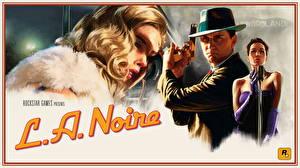 Картинки L.A. Noire Полицейские Блондинка Мертвый труп