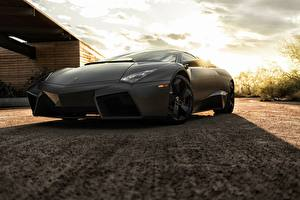 Картинка Lamborghini Черный Reventon Машины