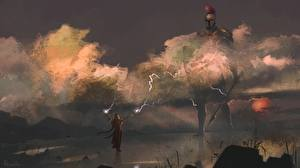 Фотография Волшебство Гигант Броня Копья Priestess of mars Фантастика