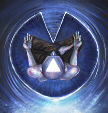 Обои Мужчины Сверху Лысый Lotus, Meditation