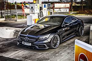 Фото Mercedes-Benz Черный Металлик Купе C217 S-Class Prior-Design Автомобили