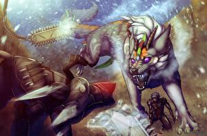 Обои Metal Gear Волшебные животные Воины Злость Rising Игры Фэнтези