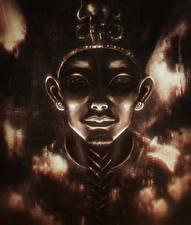 Фотография Лицо Смотрит Pharaoh Фантастика